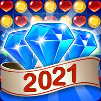 Gems & Jewels - Match 3 Jungle Puzzle Game icon